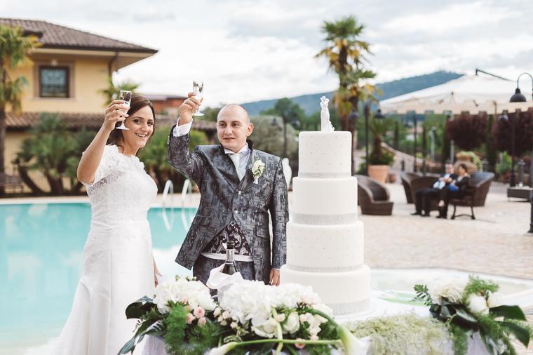 Brindisi degli sposi a Villa Fiorina ad Alatri, Frosinone