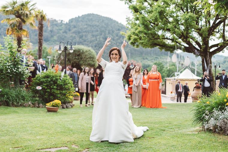 Lancio del bouquet della sposa a Villa Fiorina ad Alatri, Frosinone